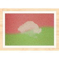 Cuadro de madera Impresa - Rosa y Verde