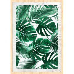 Cuadro de madera Impresa - Green Leaves