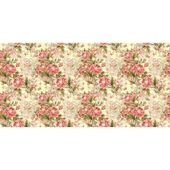 Alfombra Vinílica - Floral Bloom - 97x48 cm