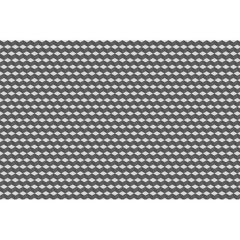 Alfombra Vinílica - Geométrico Negro - 196x130 cm