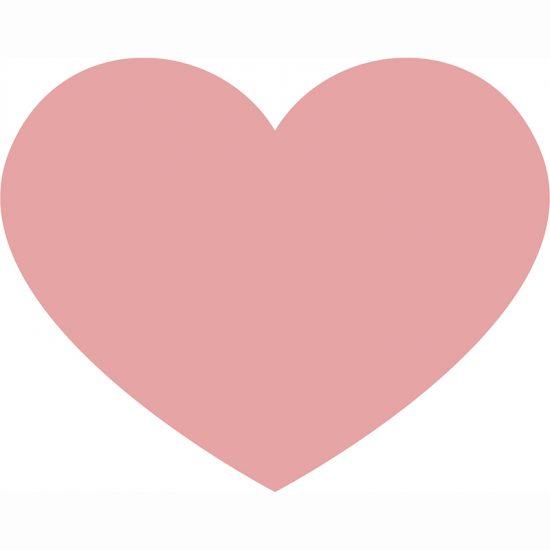 Alfombra Vinílica Infantil Heart-95x75 cm