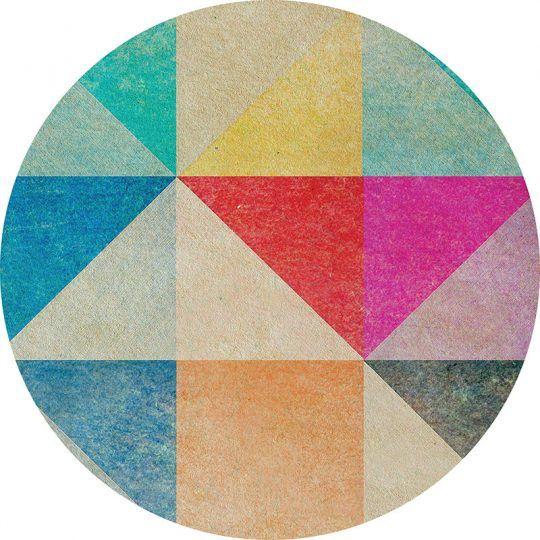 Alfombra Vinílica Redonda Triangles