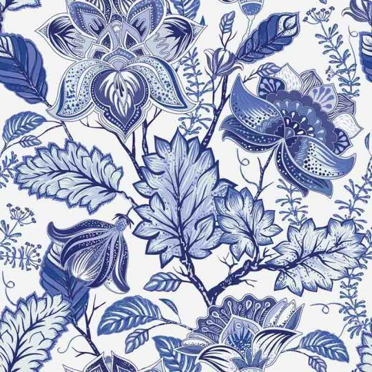 Azulejos Adhesivos Blue Flowers