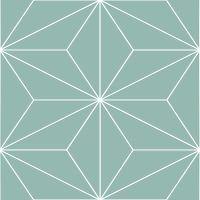 Vinilos adhesivos geométrico turquesa