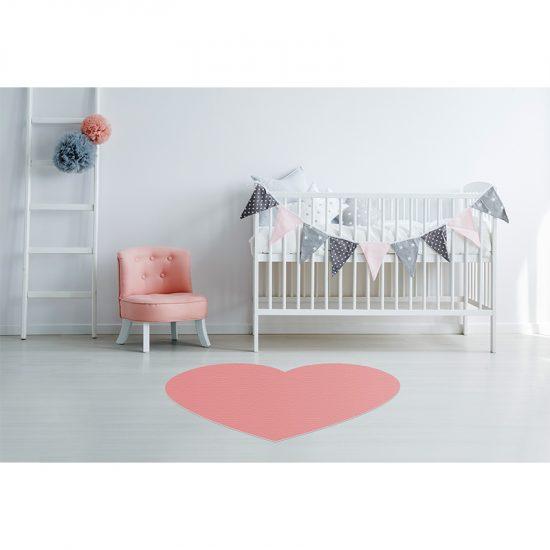 Alfombra Vinílica Infantil Heart