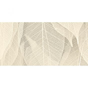 Alfombra Vinílica Leaf Beige 97x48