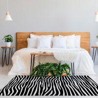 ALfombra Vinílica Black & White vertical habitación