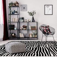 ALfombra Vinílica Black & White vertical salón