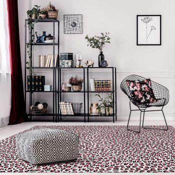 ALfombra Vinílica Pink Leopard 295x195