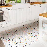 Alfombra Vinílica Mosaic White cocina