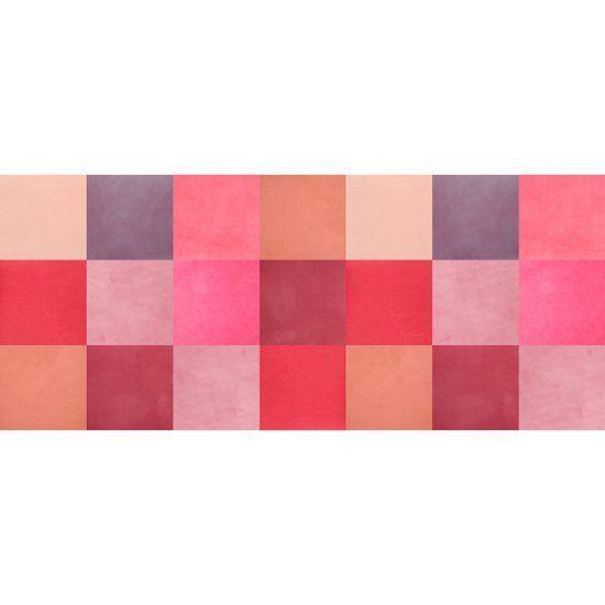 ALfombra Vinílica Pink Squares 175x74