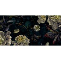 ALfombra Vinílica Dark Flowers 97x48