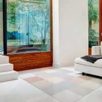 ALfombra Vinílica Pastel Squares salón
