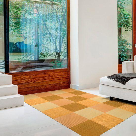 ALfombra Vinílica Yellow Squares salón