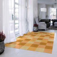 ALfombra Vinílica Yellow Squares recibidor