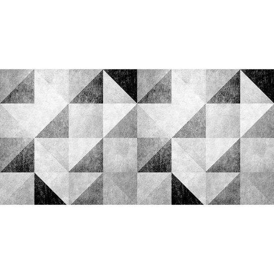 ALfombra Vinílica Grey Triangles 97x48