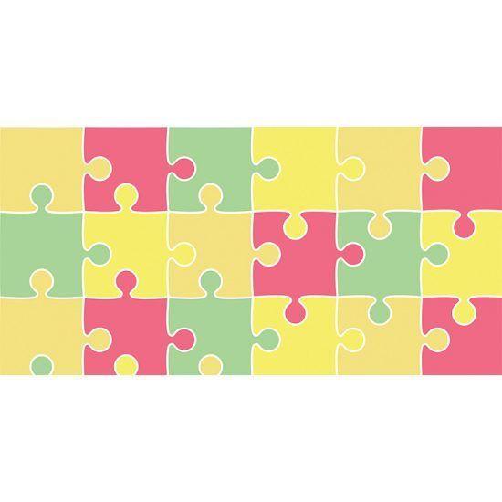 Alfombra Vinílica Infantil Puzzle 97x48