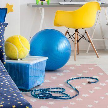 Alfombra Vinílica Infantil Pink Stars dormitorio