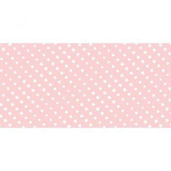 Alfombra Vinílica Infantil Pink Stars 97x48