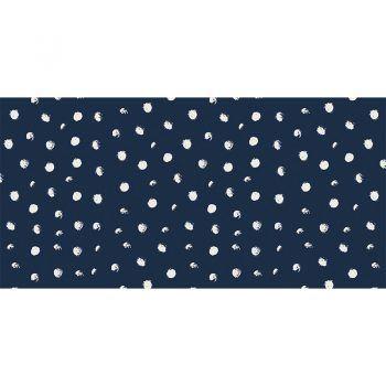 Alfombra Vinílica Infantil Polka Dots Blue 97x48