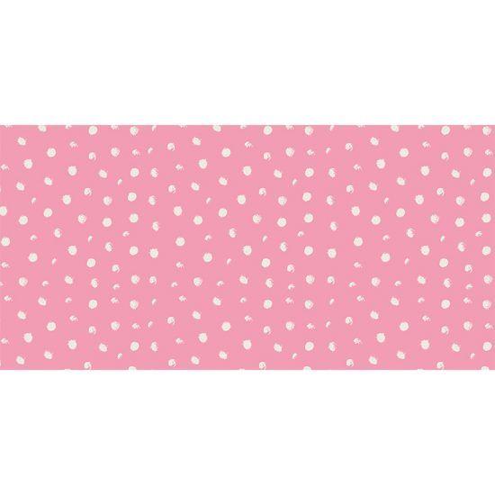 Alfombra Vinílica Infantil Polka Dots Pink 97x48