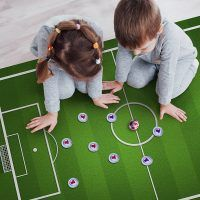 Alfombra Vinílica Infantil Campo de Futbol dormitorio
