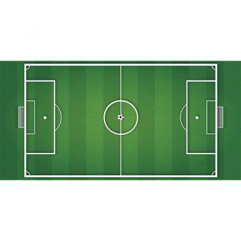 Alfombra Vinílica Infantil Campo de Futbol 97x48