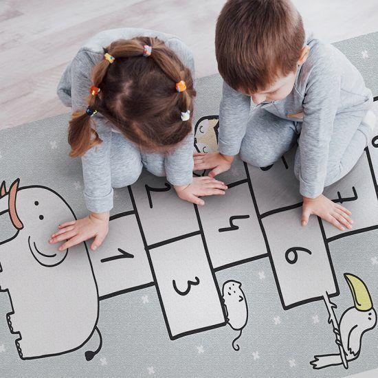 Alfombra Vinílica Infantil Rayuela Dreams juego
