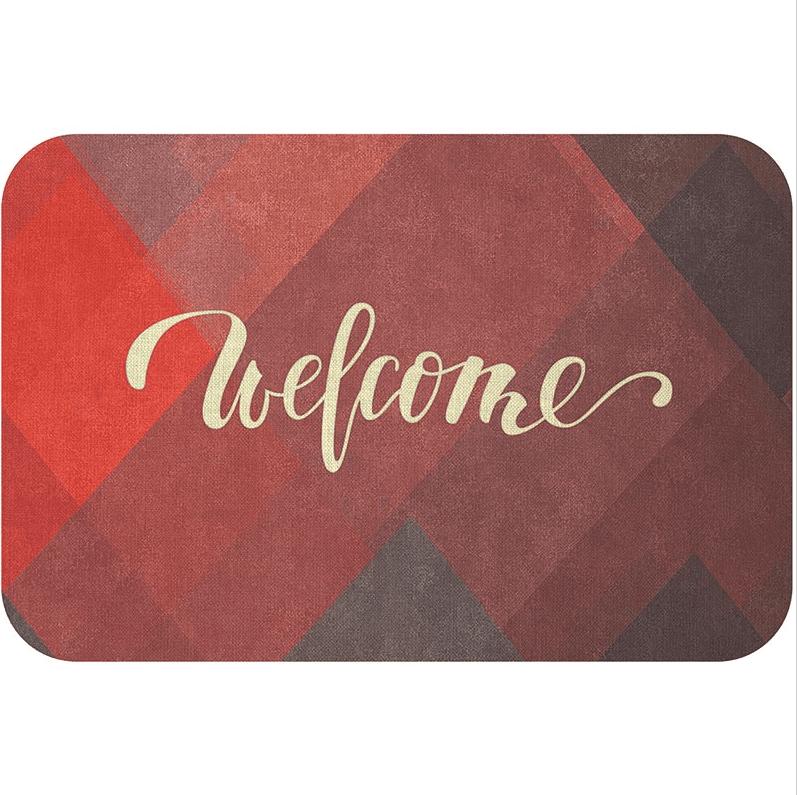 Alfombra de Bienvenida Geométrica Welcome
