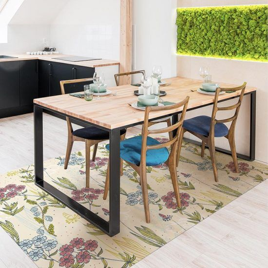 Cocina alfombra vinílica floral Spring