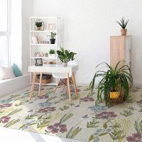 Habitación alfombra vinílica floral Spring