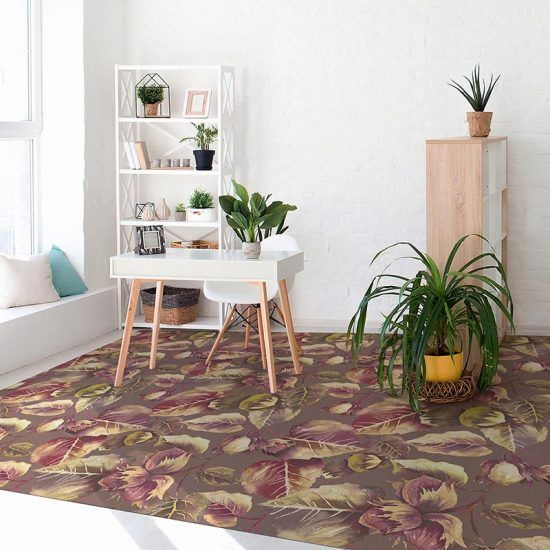habitación alfombra vinílica floral laguria