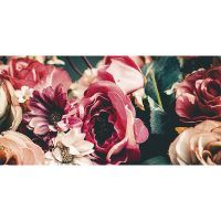 alfombra vinílica floral shaggy 97 x 48 cm