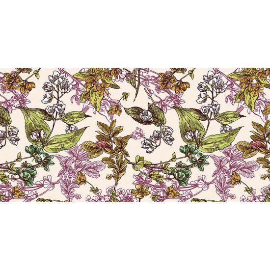 alfombra vinílica floral cecil 97 x 48 cm