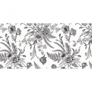 alfombra vinílica floral lavenia 97 x 48 cm