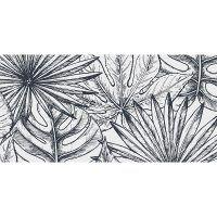 alfombra vinílica LEaves Black & White 97 x 48 cm