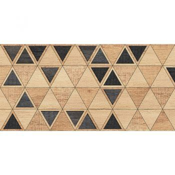 Alfombra Vinílica Triangles Wood
