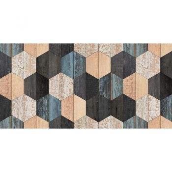 Alfombra Vinílica Wood Hexagons