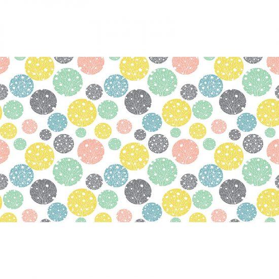 Cabecero de cama de vinilo Infantil Orbes de Color135x80