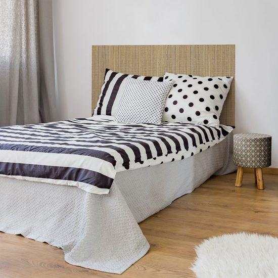 Dormitorio cabecero de cama Bambú Cuadrado 135 x 80 cm