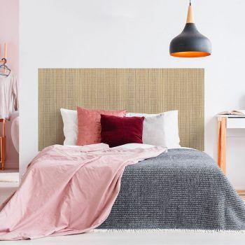 Dormitorio cabecero de cama Bambú cuadrado 160 x 80 cm