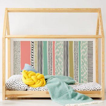 Cabecero de cama de vinilo Infantil Tippy detalle cama
