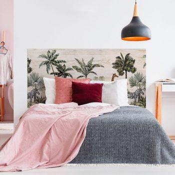 Cabecero de cama Jungle Animals dormitorio 160 x 80 cm