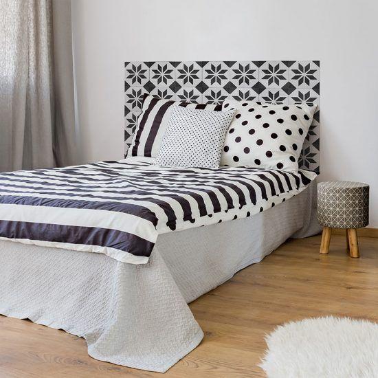 Dormitorio cabecero de cama Videl Negro 135 x 80 cm