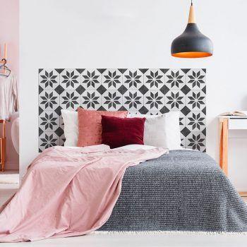 Dormitorio cabecero de cama Videl Negro 160 x 80 cm