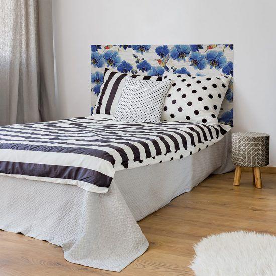 Dormitorio cabecero de cama Birds 135 x 80 cm