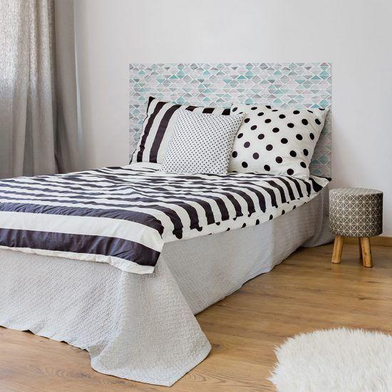 Dormitorio cabecero de cama Triángulos 135 x 80 cm