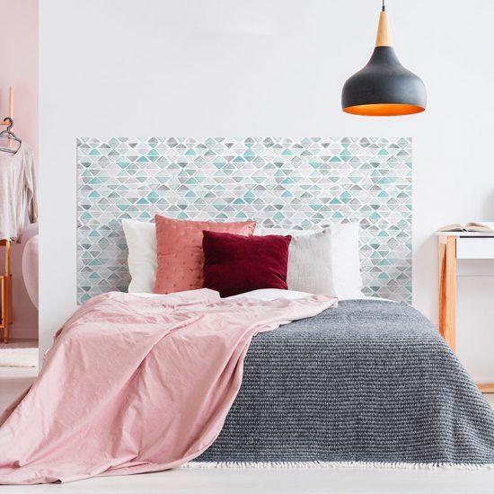 Dormitorio cabecero de cama Triángulos 160 x 80 cm