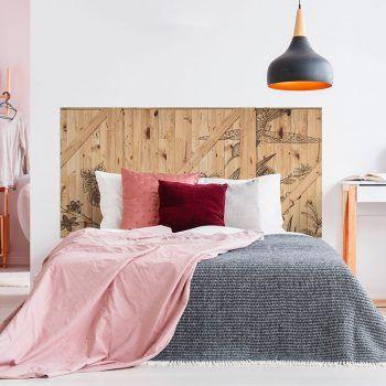 Cabecero de cama Flowers Woods dormitorio 160 x 80 cm