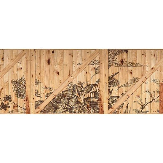 Cabecero de cama de vinilo Flower Woods 200 x 80 cm